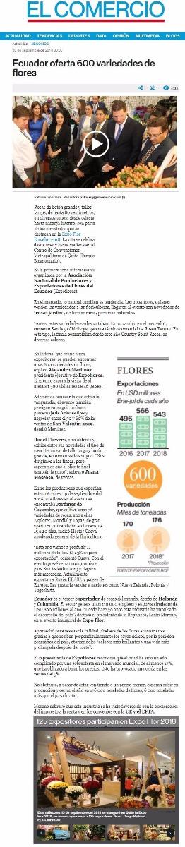 Rosadex en El COMERCIO